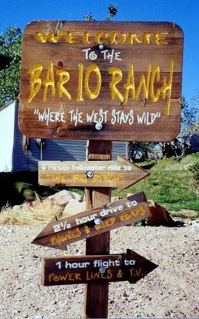 Bar 10 Ranch Sign