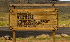 Whitmore International Airport Sign