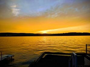 Beautiful sunset on Sunday evening.